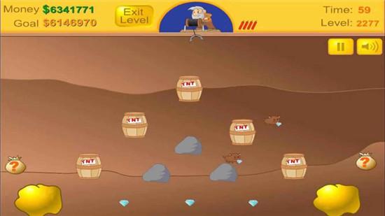 黄金矿工单人版游戏