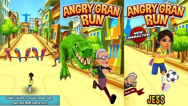 愤怒的老奶奶玩跑酷解说版游戏