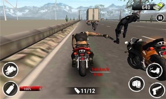 野蛮摩托赛车无限金币版