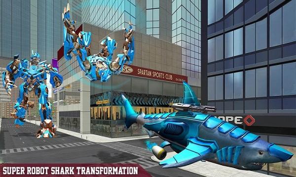 鲨鱼机器人无限金币版免费