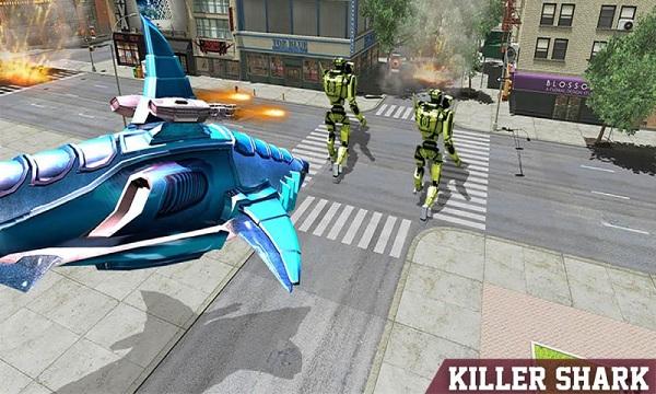 鲨鱼机器人无限金币版