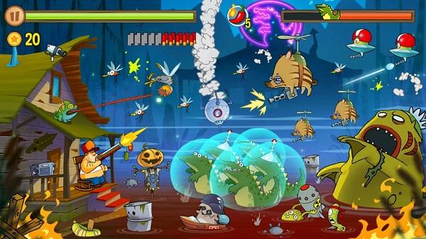 沼泽激战内购破解版是一款自由度高耐玩的射击防御游戏吗?