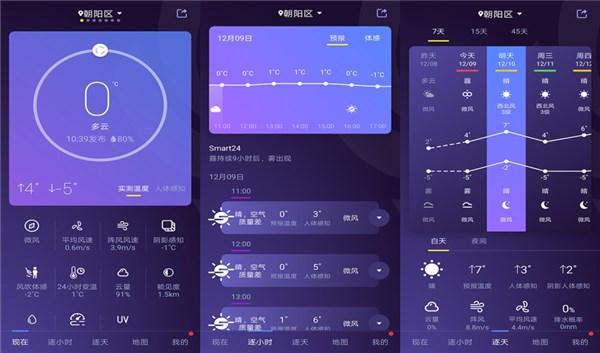 中国天气精简版是一款几点几分下雨的精准天气预报吗?